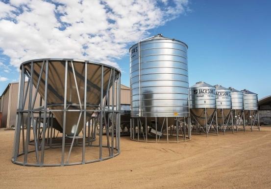 Fertiliser silos