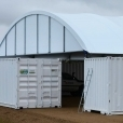 Shelter end infill 15m container
