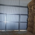 Bump rails in a hay shed
